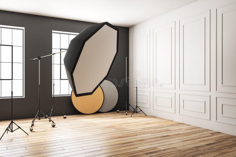 Modern photo studio vector illustration