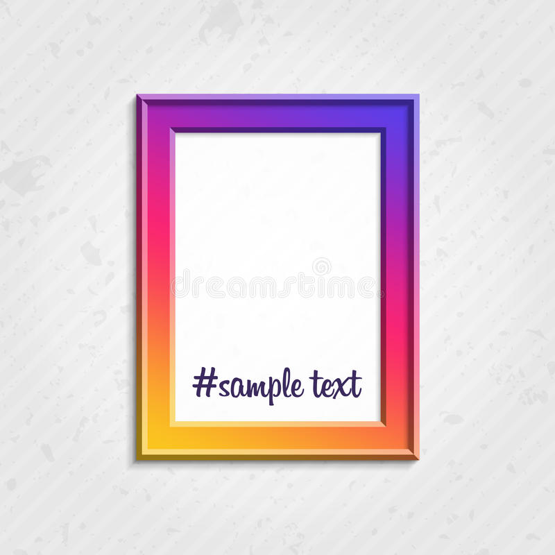 Modern picture frame royalty free illustration