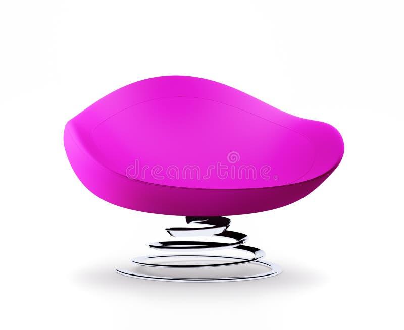 Modern pink armchair with helix leg 3d render