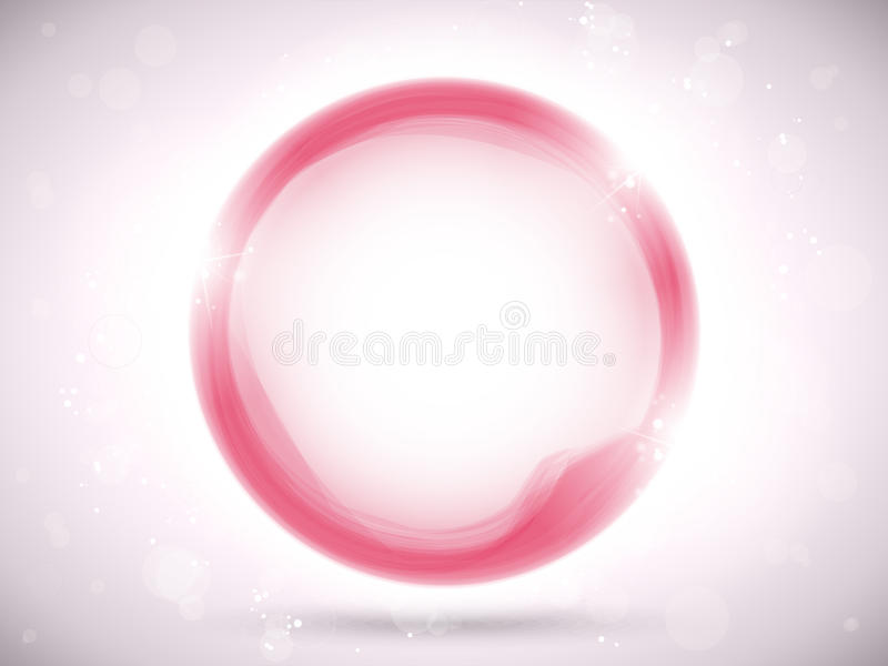 Modern Pink Circle Glowing Effects Stock Images