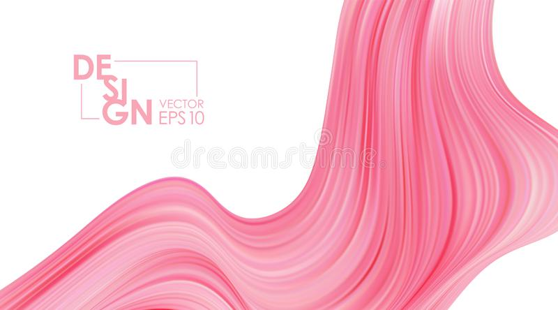 Vector illustration: Modern pink color flow background. Abstract wave liquid shape. Art design. Modern pink color flow background. Abstract wave liquid shape vector illustration
