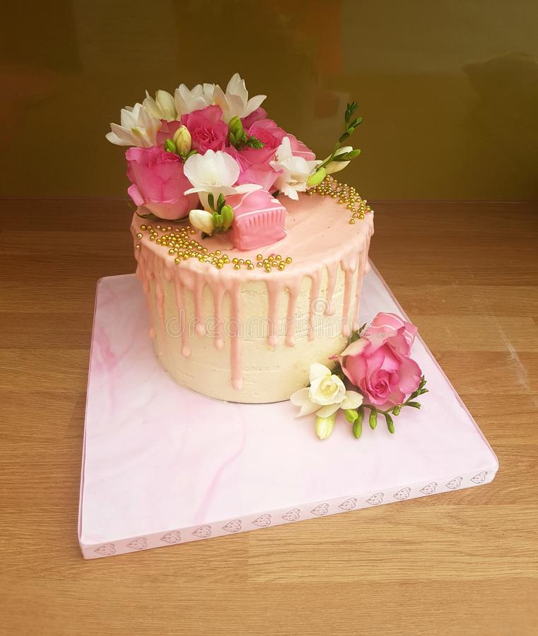 Decorated Gold Cake Flower