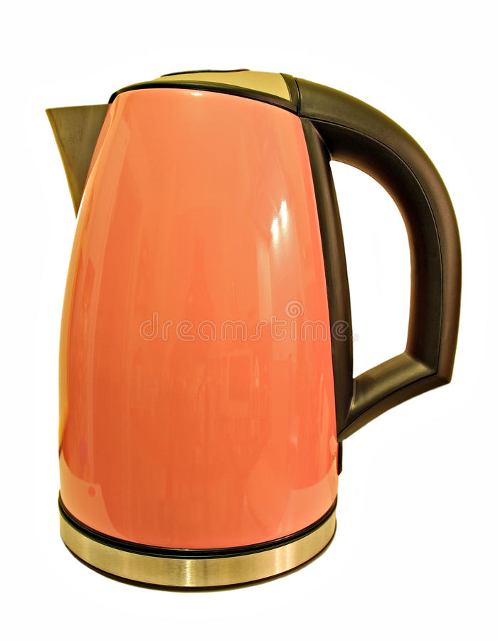 Modern pink kettle royalty free stock photography