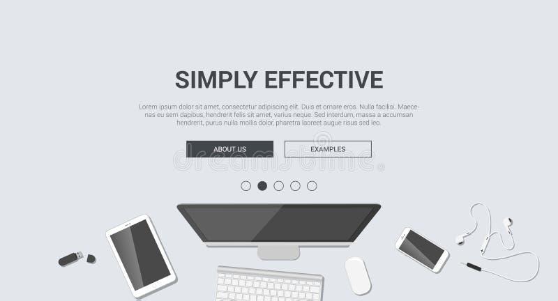Modern plan design för modell för idérikt enkelt effektivt vektor illustrationer