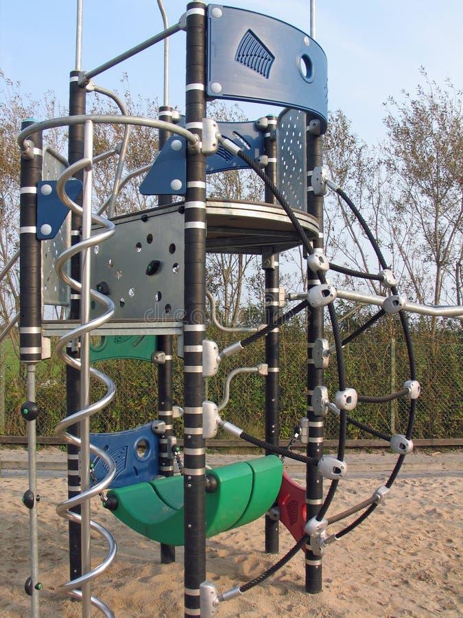 Modern playground equipment. Newly and modern design playground equipment stock image