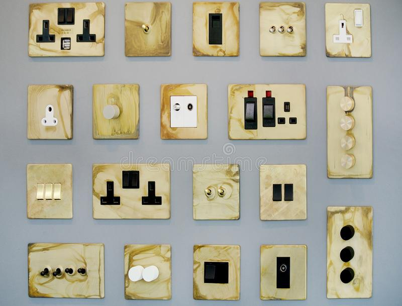 Plugs and switches stock image