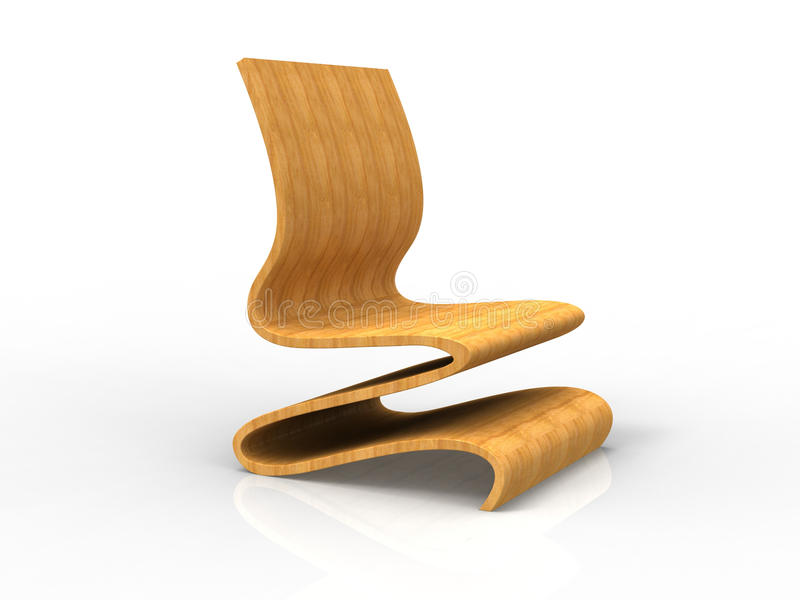 Modern Plywood Chair Stock Illustration Image Of Flow