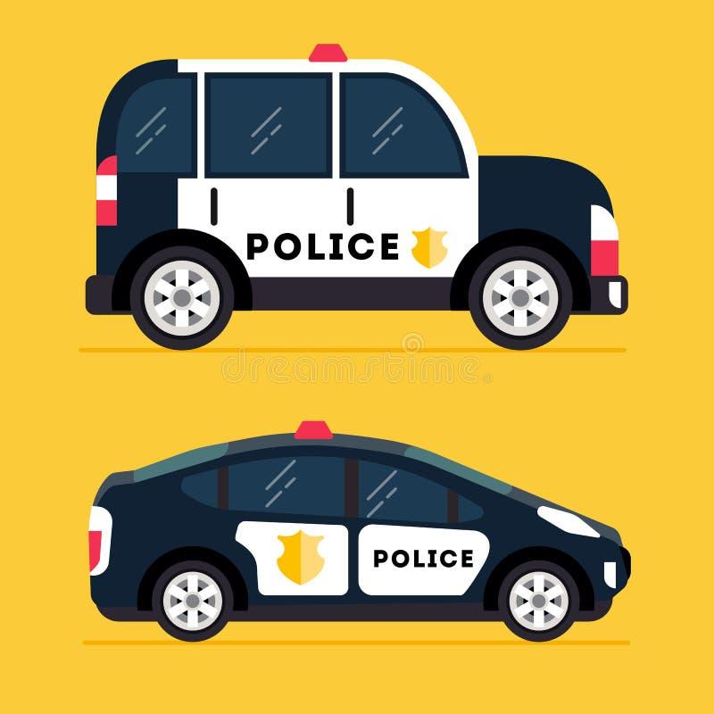 Modern polisbil för vektor stock illustrationer