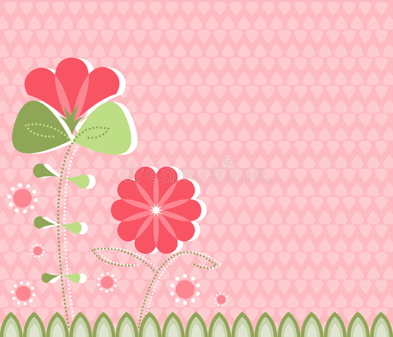 Modern Poppies On Pink Royalty Free Stock Photo
