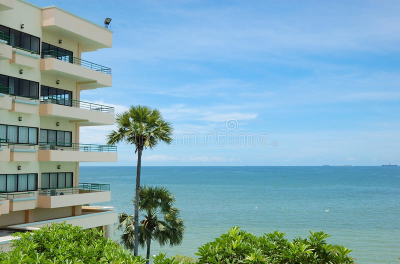 Download Modern Popular Hotels At The Seashore Stock Image - Image of water, tree: 19515859