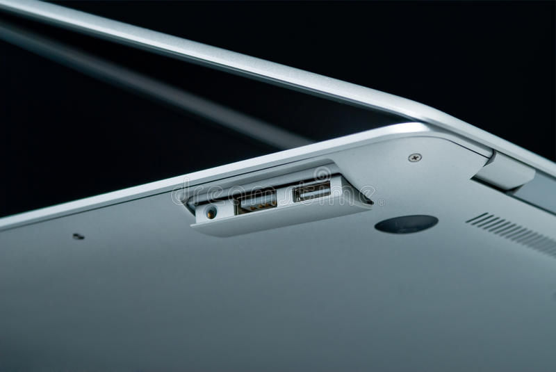 Download Modern portable computer stock photo. Image of ports - 10005660