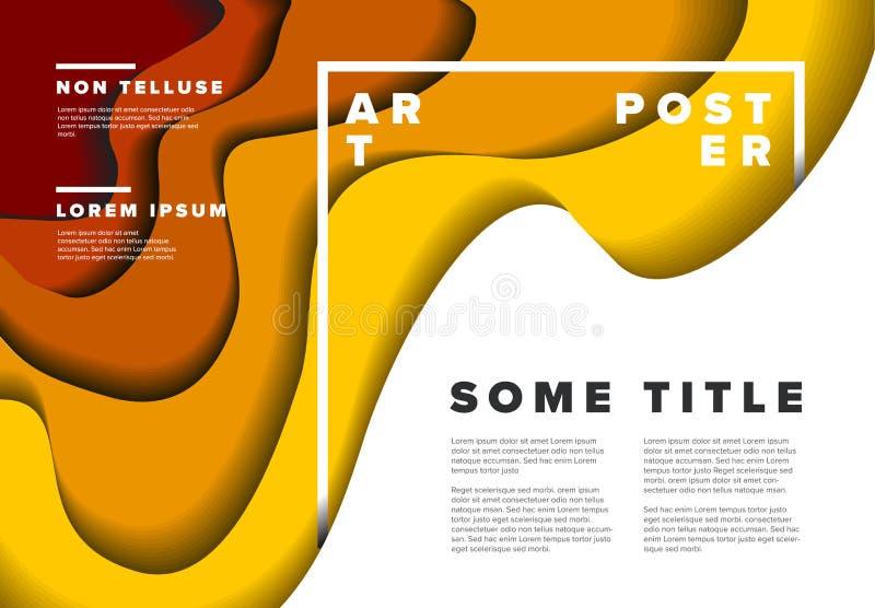 Modern poster flyer template royalty free illustration