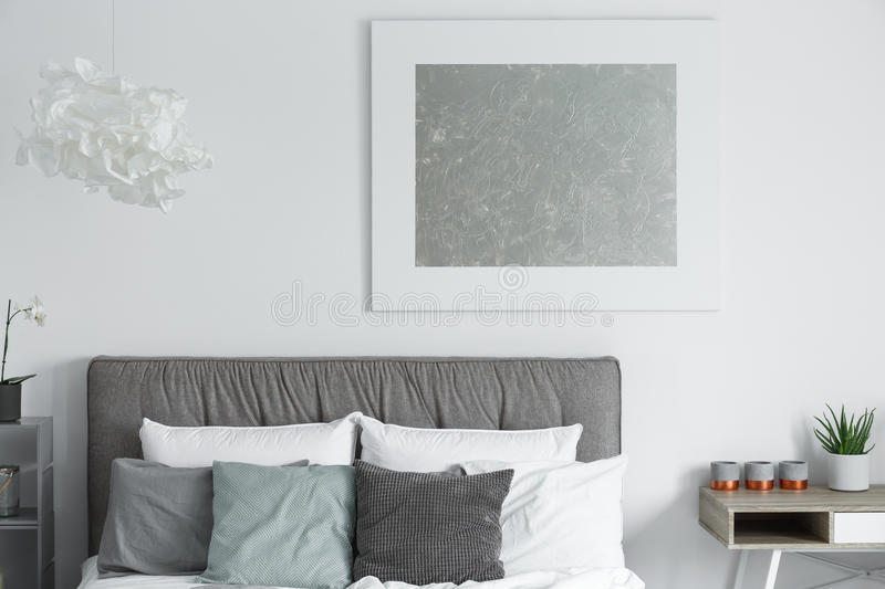 Modern poster on a wall royalty free stock photography