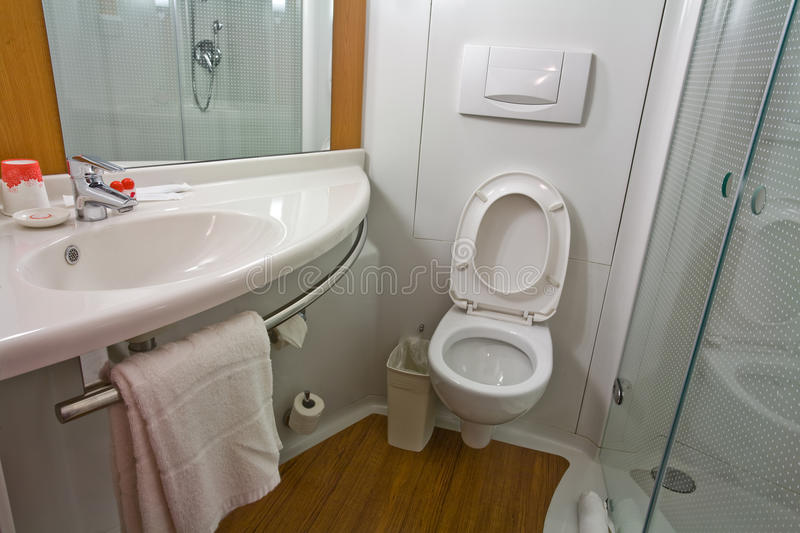 Modern and practical bathroom royalty free stock photo