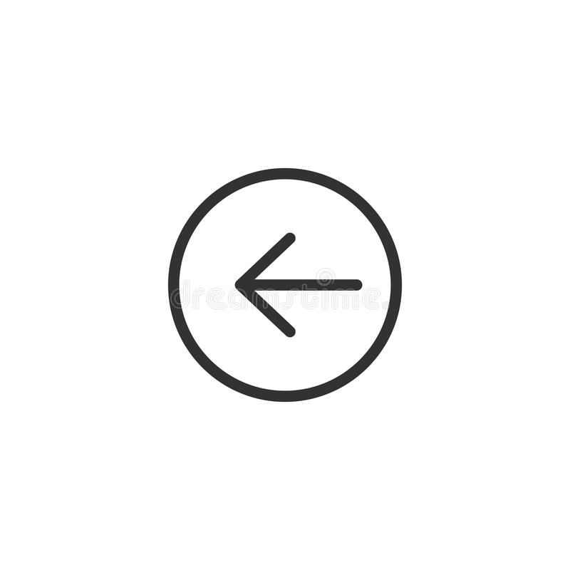 Exclamation Line Icon Design royalty free illustration