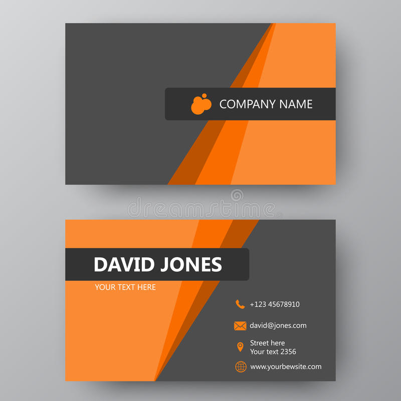 Modern Presentation Card With Company Logo. Vector Business Card ...