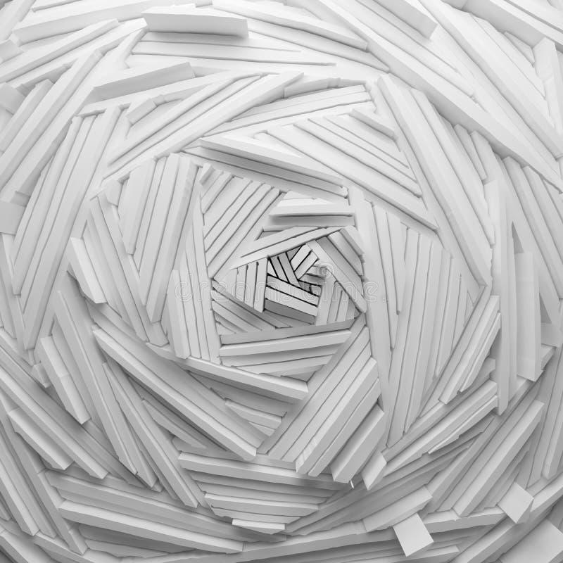 Modern pressad ut handattraktion klottrar linjer vektor illustrationer
