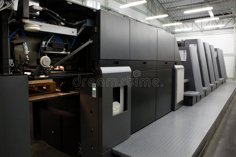 Modern printing house stock photography