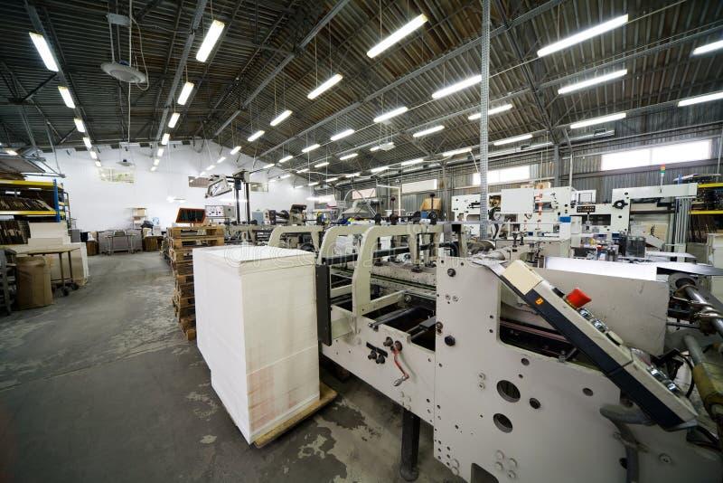 Modern printing house stock photography