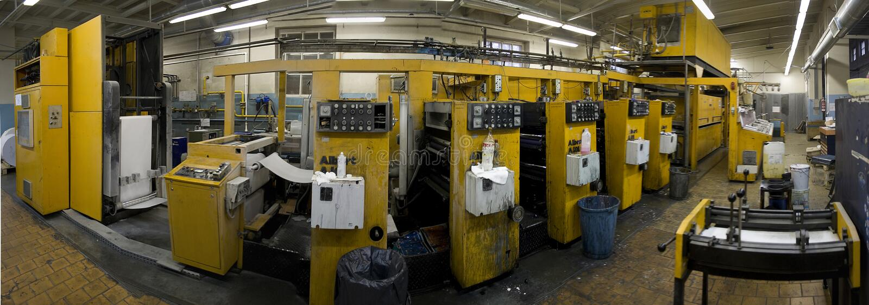 Modern printing press royalty free stock photos