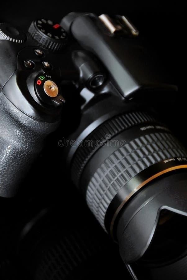 Modern profesionalny camera SLR stock photo