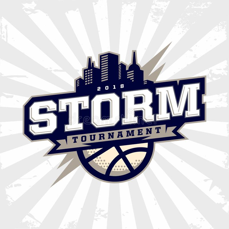 Modern professional basketball logo for sport team stock image