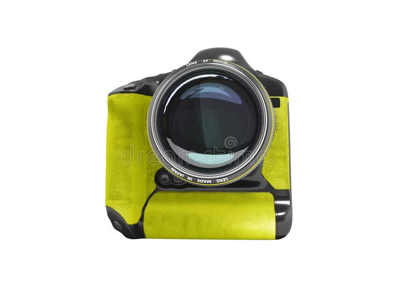 Modern professional camera for professional shooting in nature b stock photo