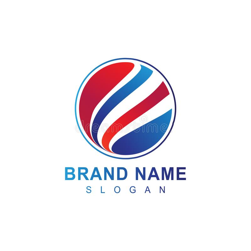 Modern Professional circle company business logo design in vector stock illustration