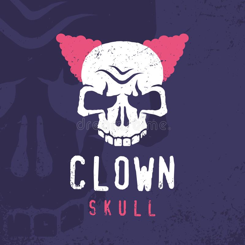Free Modern Professional Emblem Clown Skull In Purple And Pink Theme Royalty Free Stock Photos - 116271418