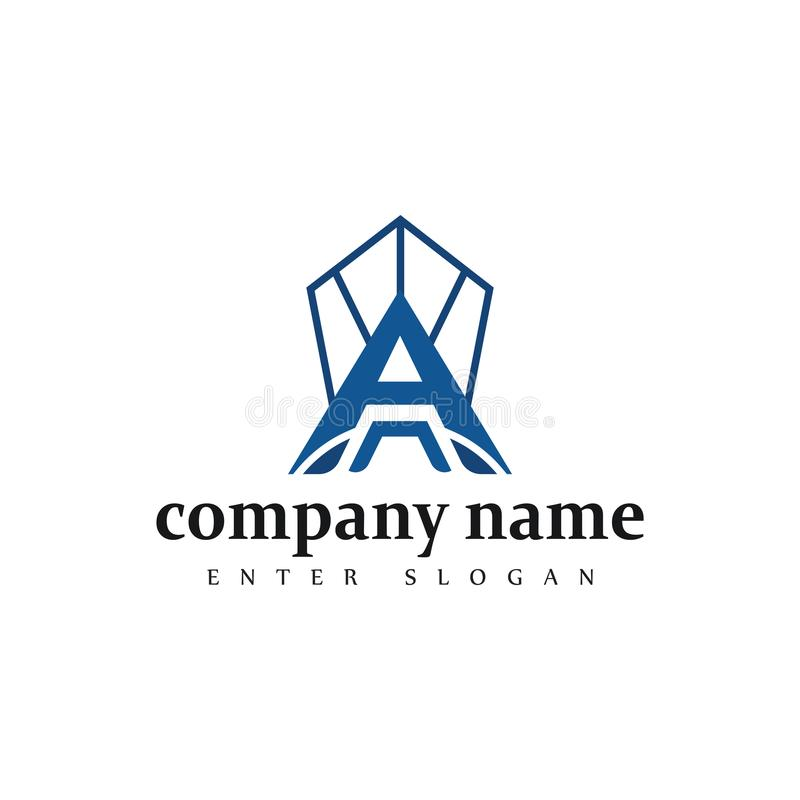 Modern Professional letter a company business logo design in vector vector illustration