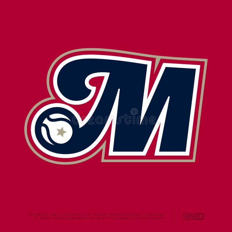 Modern professional letter emblem for sport teams. M letter royalty free stock images