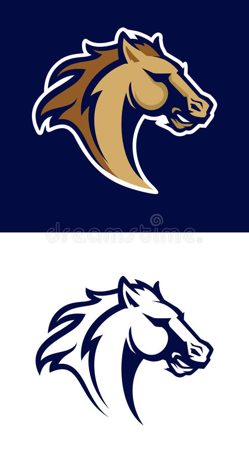 Free Modern Professional Logo With Mustang For A Sport Team. Royalty Free Stock Photography - 97460077