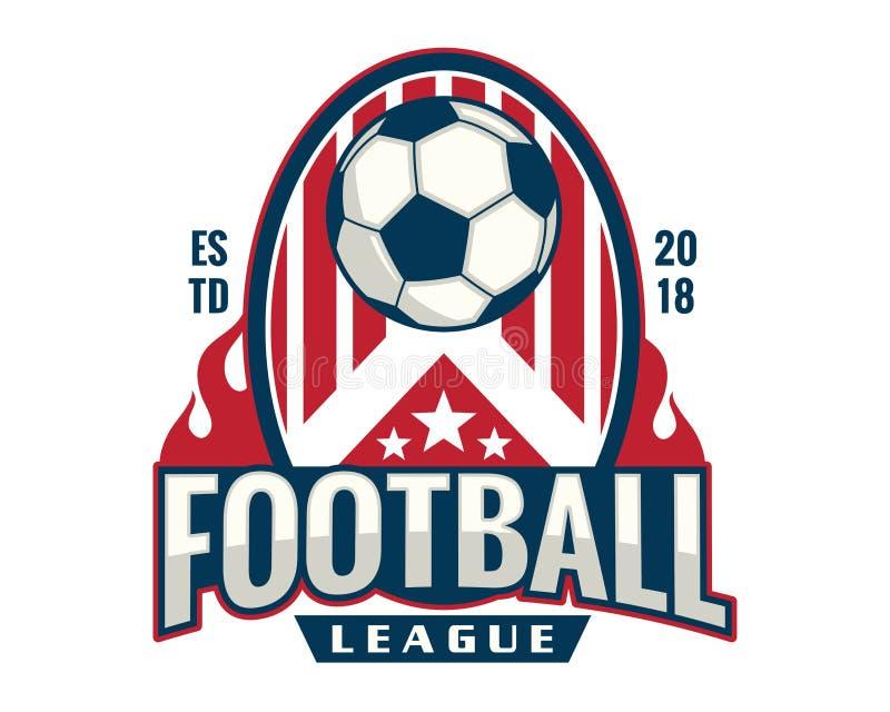 Modern Professional Soccer Logo Badge Illustration royalty free illustration