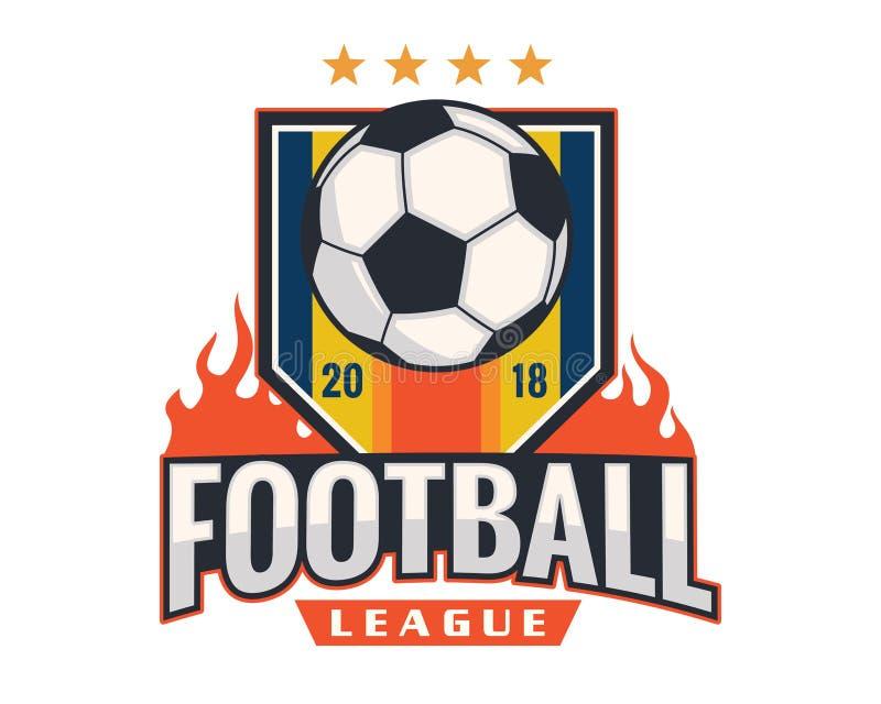 Modern Professional Soccer Logo Badge Illustration stock illustration
