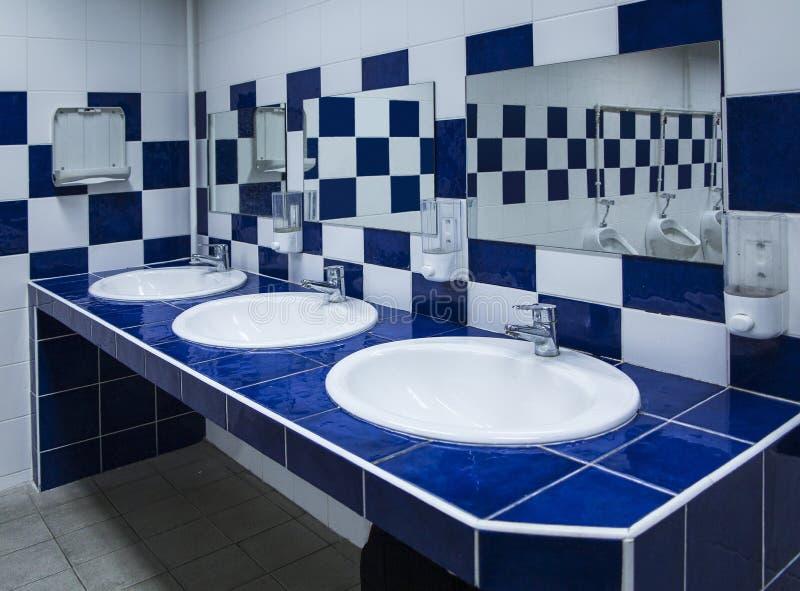 Modern Public Bathroom royalty free stock image