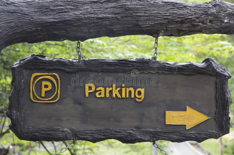 Modern public parking traffic sign in the park, Parking icons set. Parking traffic Concept stock images
