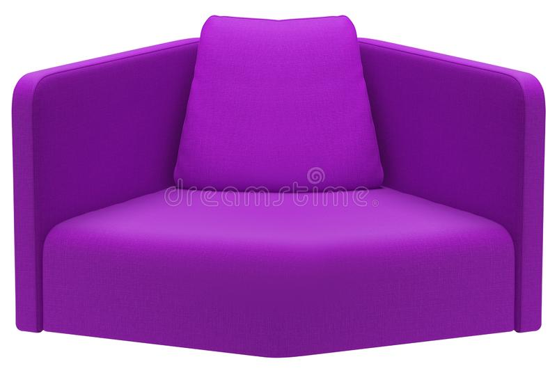 Modern purple sofa isolated on white stock photos