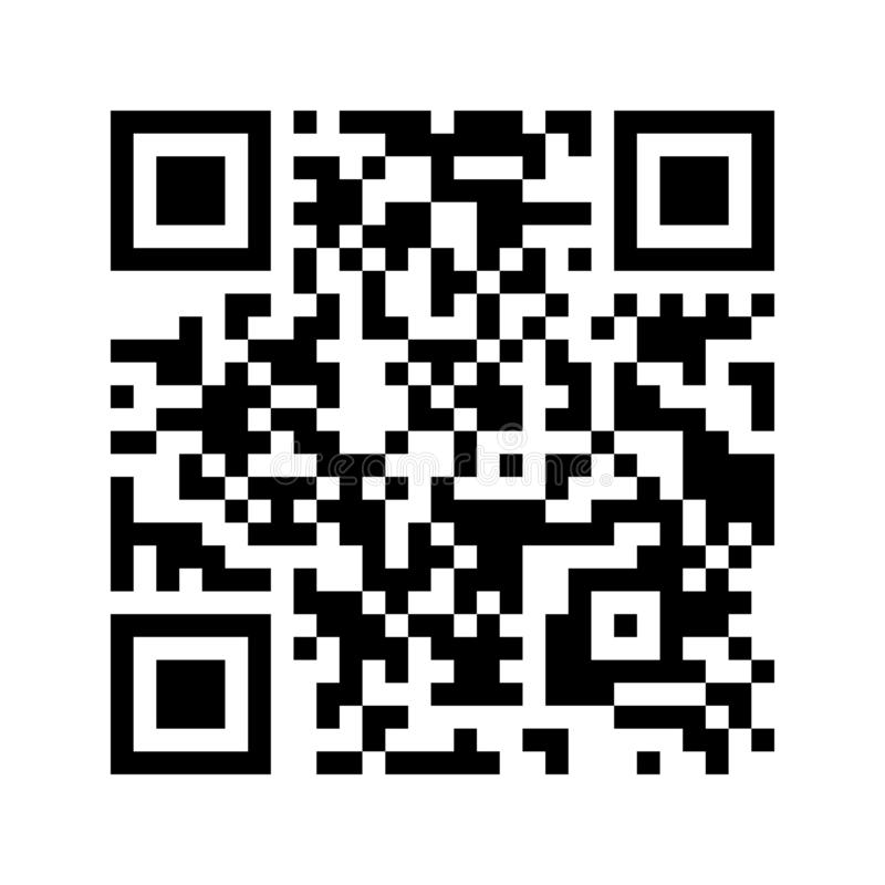 Modern QR code isolated on white background for scanning with smartphone. QRcode icon. stock illustration