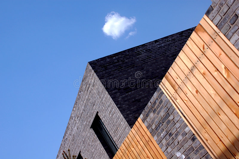 Modern Quadrate Building stock image