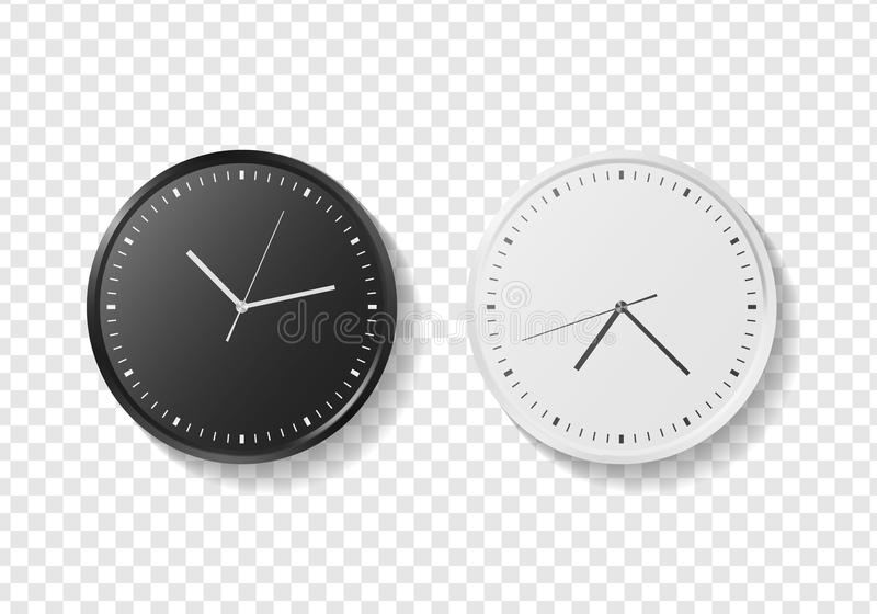 Modern quartz wall clock vector illustration