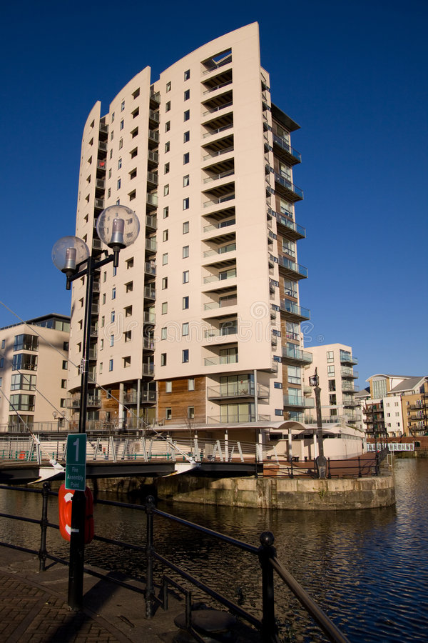 Download Modern Quayside Apartment Block Stock Photos - Image: 7367223