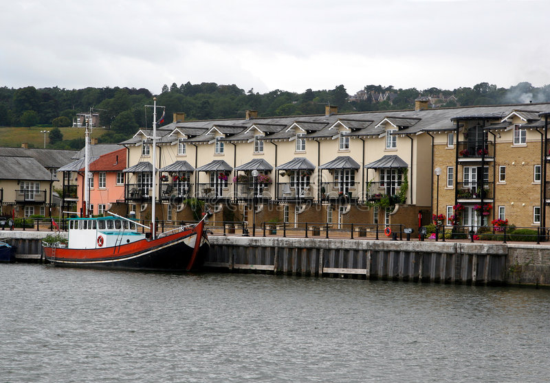 Modern quayside home royalty free stock images