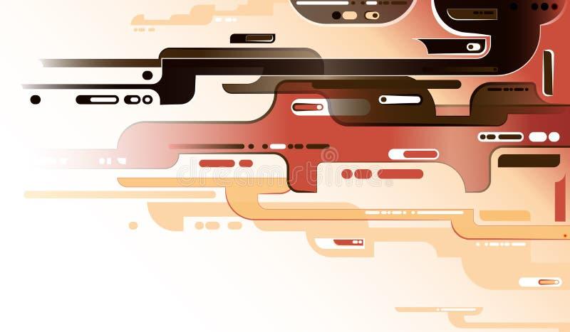 Modern röd sammansättning vektor illustrationer