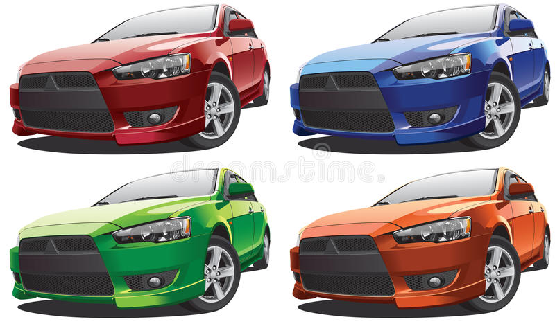 Japanese compact car stock vector. Illustration of clipart ...