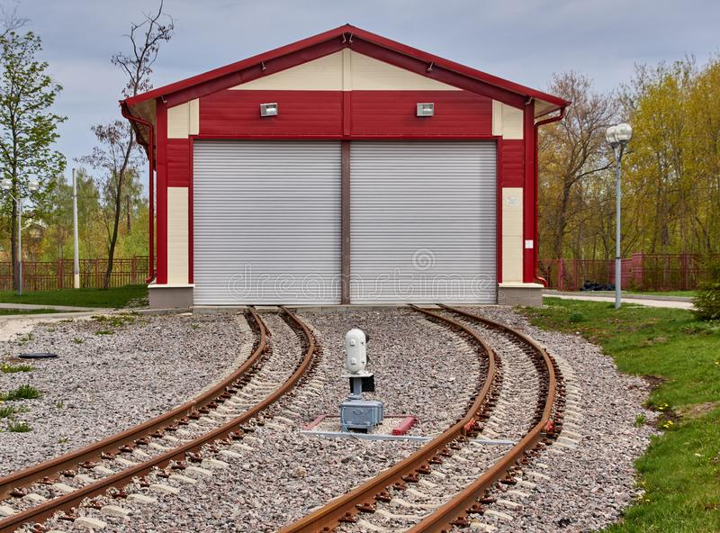 Modern railway depot stock photos