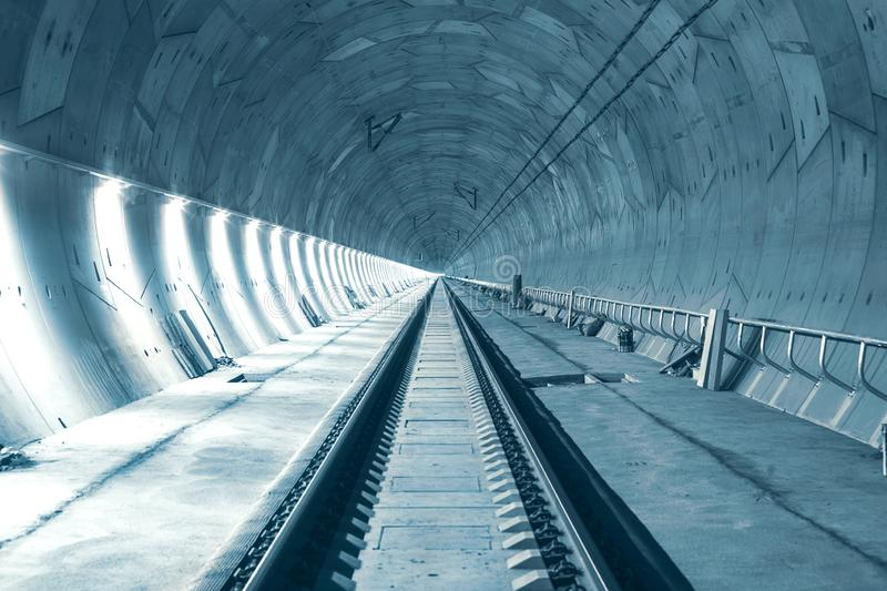 Modern railway tunnel during construction. Ejpovicke tunely/Ejpovice tunnels royalty free stock photo