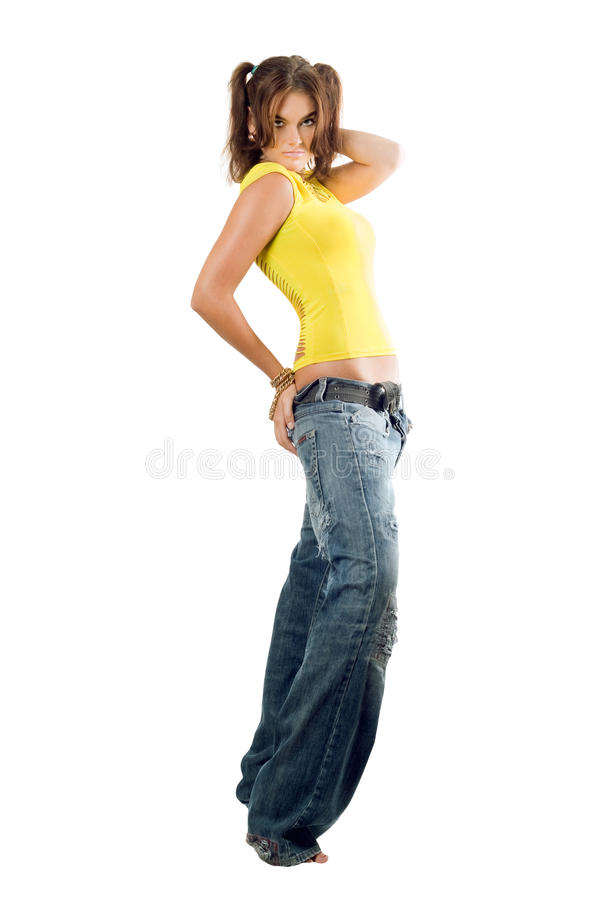 Modern rap dancer royalty free stock image