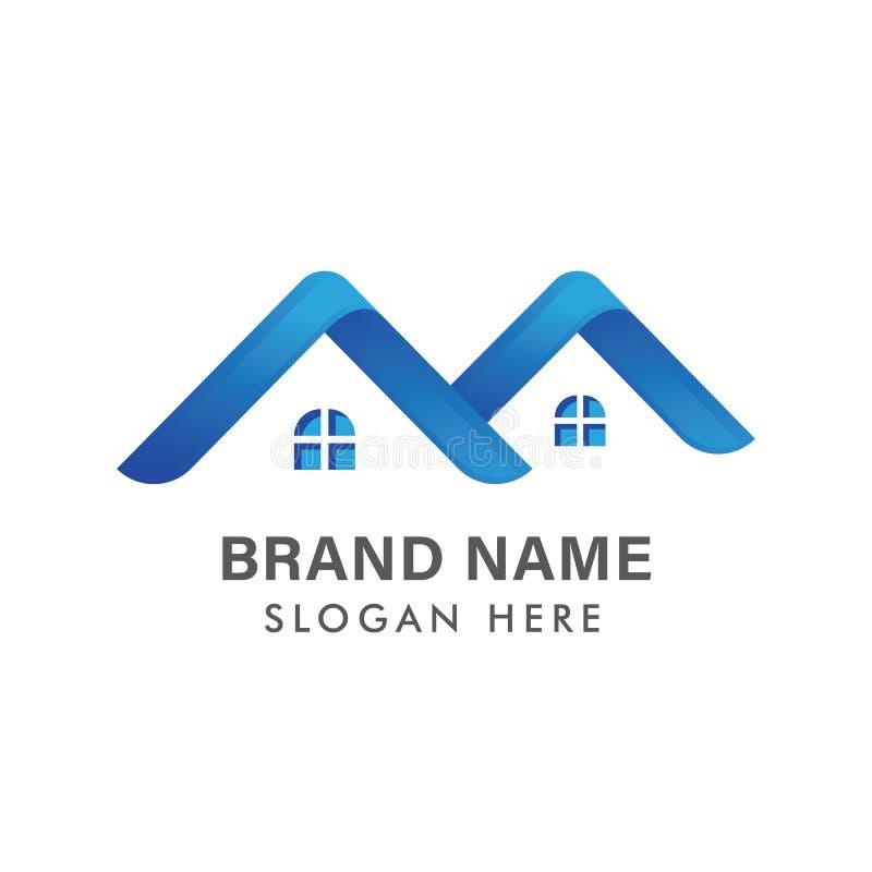 Modern Real Estate-Embleemontwerp/Creatief Huis Logo Design/Abstracte Gebouwen Logo Design royalty-vrije illustratie