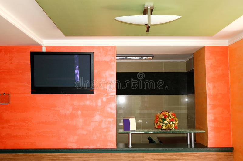 The modern reception at luxury hotel stock images
