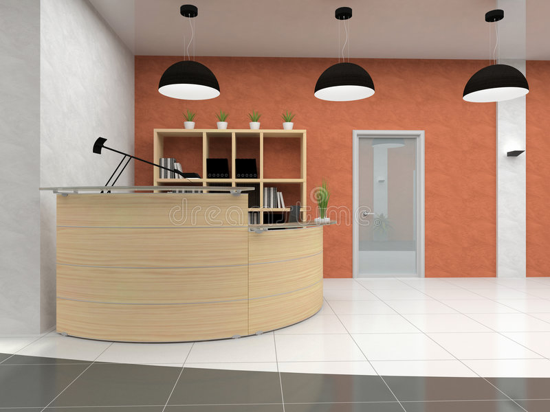 Download Modern reception in office stock illustration. Image of comfortable - 4115224